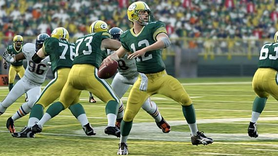 Aaron Rodgers Madden 12 Cover Athlete