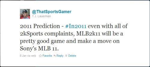 ThatSportsGamer 2011 MLB Prediction