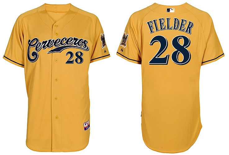 dd44b6aa53bc3f On The Field Friday – Milwaukee Brewers Cerveceros Jersey ...