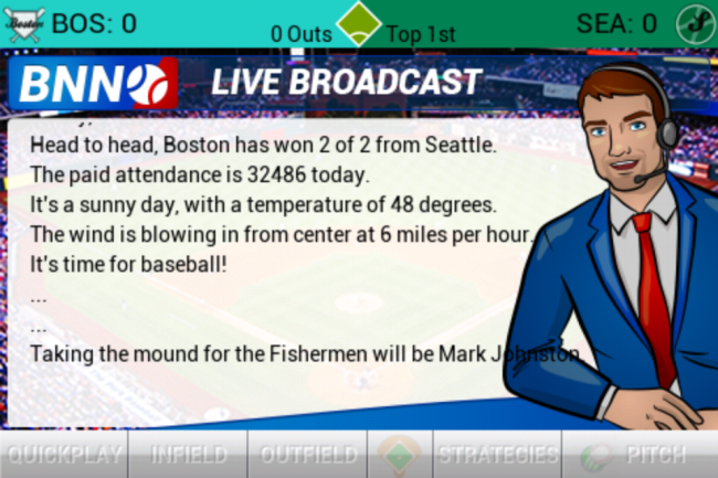 iOOTP 13 Broadcast Screen